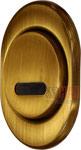 поворотный протектор DiSec на сувальдные скважины, цвет-бронза, открытый